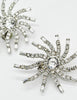 Vintage 1960s Rhinestone Burst Earrings - Amarcord Vintage Fashion  - 4