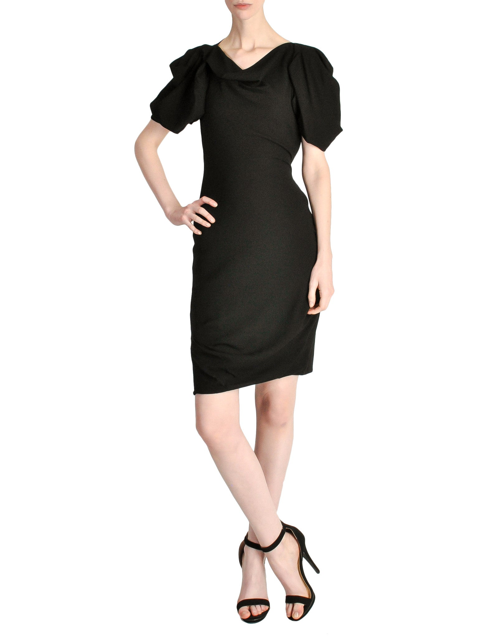Vivienne Westwood Red Label Black Crepe Dress - Amarcord Vintage Fashion  - 1
