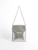 Whiting & Davis Vintage Silver Mesh Shoulder Bag - Amarcord Vintage Fashion  - 2