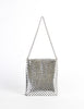 Whiting & Davis Vintage Silver Mesh Shoulder Bag - Amarcord Vintage Fashion  - 4