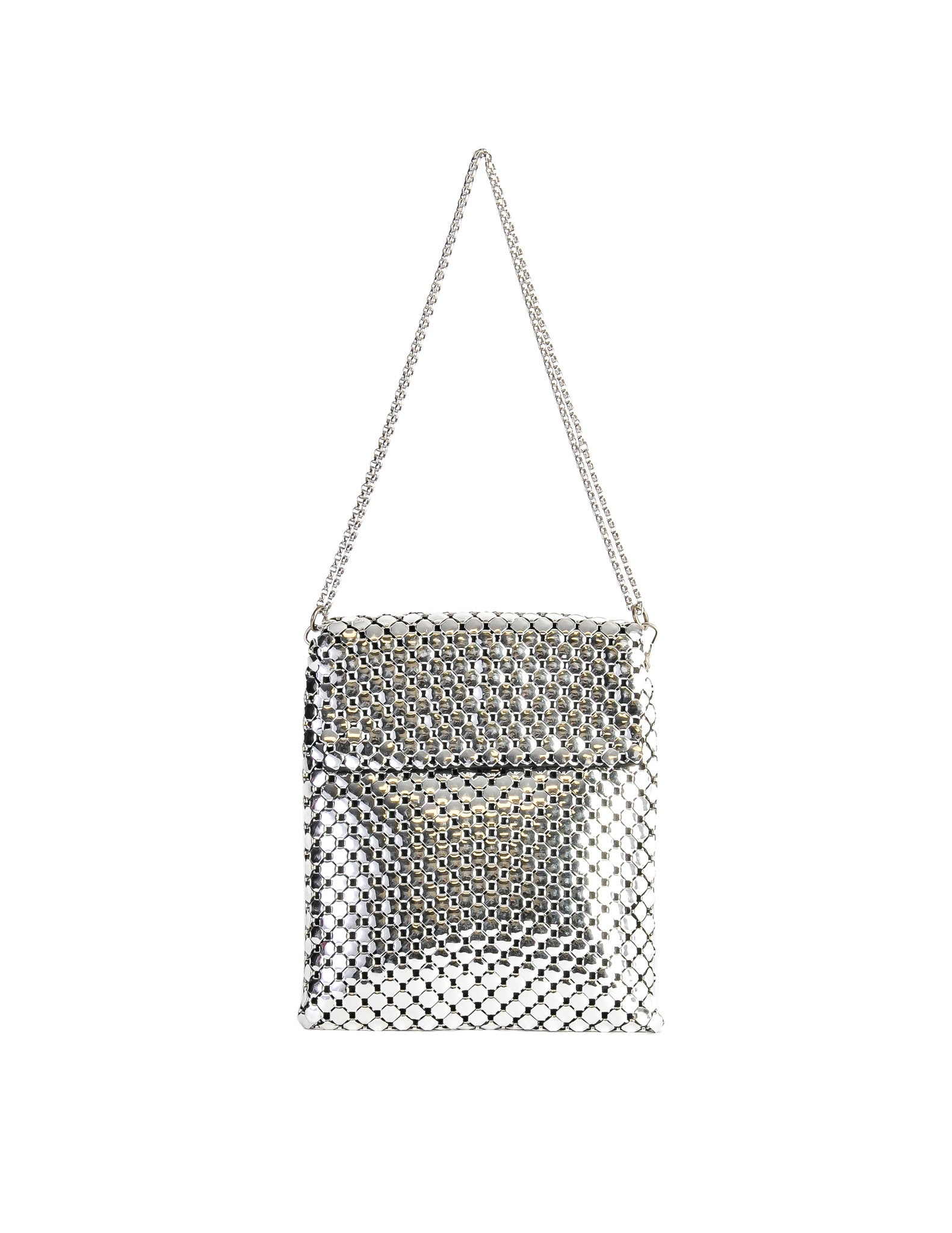 Whiting & Davis Vintage Silver Mesh Shoulder Bag - Amarcord Vintage Fashion  - 1