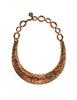 YSL Vintage Hammered Copper U Shape Choker Necklace