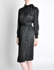 Saint Laurent Rive Gauche Black Silk Jacquard Secretary Dress - Amarcord Vintage Fashion  - 5