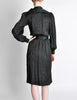 Saint Laurent Rive Gauche Black Silk Jacquard Secretary Dress - Amarcord Vintage Fashion  - 6