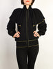 Yves Saint Laurent Vintage Black Capelet Collar Knit Sweater Jacket - Amarcord Vintage Fashion  - 3