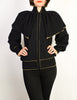 Yves Saint Laurent Vintage Black Capelet Collar Knit Sweater Jacket - Amarcord Vintage Fashion  - 7