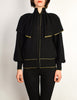 Yves Saint Laurent Vintage Black Capelet Collar Knit Sweater Jacket - Amarcord Vintage Fashion  - 2