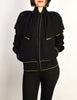 Yves Saint Laurent Vintage Black Capelet Collar Knit Sweater Jacket - Amarcord Vintage Fashion  - 4