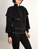 Yves Saint Laurent Vintage Black Capelet Collar Knit Sweater Jacket - Amarcord Vintage Fashion  - 8