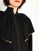 Yves Saint Laurent Vintage Black Capelet Collar Knit Sweater Jacket - Amarcord Vintage Fashion  - 5