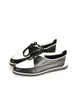 YSL Vintage Black & White Leather Creeper Sneakers - Amarcord Vintage Fashion  - 3