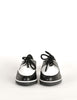 YSL Vintage Black & White Leather Creeper Sneakers - Amarcord Vintage Fashion  - 4