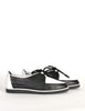 YSL Vintage Black & White Leather Creeper Sneakers - Amarcord Vintage Fashion  - 5