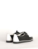 YSL Vintage Black & White Leather Creeper Sneakers - Amarcord Vintage Fashion  - 6