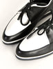 YSL Vintage Black & White Leather Creeper Sneakers - Amarcord Vintage Fashion  - 7