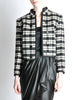 Saint Laurent Rive Gauche Vintage Plaid Wool Bolero Cropped Jacket - Amarcord Vintage Fashion  - 4