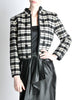 Saint Laurent Rive Gauche Vintage Plaid Wool Bolero Cropped Jacket - Amarcord Vintage Fashion  - 3