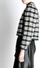 Saint Laurent Rive Gauche Vintage Plaid Wool Bolero Cropped Jacket - Amarcord Vintage Fashion  - 5