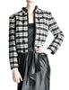 Saint Laurent Rive Gauche Vintage Plaid Wool Bolero Cropped Jacket - Amarcord Vintage Fashion  - 1