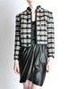 Saint Laurent Rive Gauche Vintage Plaid Wool Bolero Cropped Jacket - Amarcord Vintage Fashion  - 2