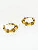 Yves Saint Laurent Vintage Brass Hoop Earrings - Amarcord Vintage Fashion  - 3