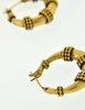 Yves Saint Laurent Vintage Brass Hoop Earrings - Amarcord Vintage Fashion  - 4