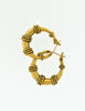 Yves Saint Laurent Vintage Brass Hoop Earrings - Amarcord Vintage Fashion  - 2