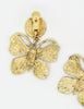 YSL Vintage Gold Butterfly Earrings - Amarcord Vintage Fashion  - 4