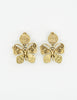 YSL Vintage Gold Butterfly Earrings - Amarcord Vintage Fashion  - 2