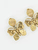 YSL Vintage Gold Butterfly Earrings - Amarcord Vintage Fashion  - 3