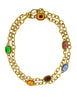YSL Vintage Multicolor Jewel Gold Necklace - Amarcord Vintage Fashion  - 1