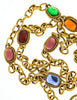 YSL Vintage Multicolor Jewel Gold Necklace - Amarcord Vintage Fashion  - 7