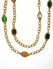 YSL Vintage Multicolor Jewel Gold Necklace - Amarcord Vintage Fashion  - 5