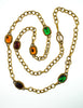 YSL Vintage Multicolor Jewel Gold Necklace - Amarcord Vintage Fashion  - 6