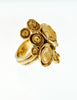 YSL Vintage Gold Modernist Arty Ring - Amarcord Vintage Fashion  - 4
