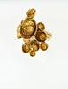 YSL Vintage Gold Modernist Arty Ring - Amarcord Vintage Fashion  - 5
