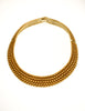 Yves Saint Laurent Vintage Gold Textured Choker Collar Necklace