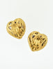 YSL Vintage Gold Green Gripoix Glass Heart Earrings - Amarcord Vintage Fashion  - 6