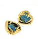 YSL Vintage Gold Green Gripoix Glass Heart Earrings - Amarcord Vintage Fashion  - 3
