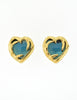 YSL Vintage Gold Green Gripoix Glass Heart Earrings - Amarcord Vintage Fashion  - 5