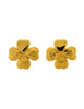 Yves Saint Laurent Vintage Gold Shamrock Clover Earrings