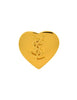 YSL Vintage Gold Monogram Heart Brooch Pin