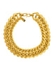 Yves Saint Laurent Vintage Gold Thick Chain Choker Necklace