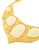 YSL Vintage White Cabochon Brushed Gold Plaque Multistrand Necklace - Amarcord Vintage Fashion  - 4