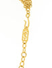 YSL Vintage White Cabochon Brushed Gold Plaque Multistrand Necklace - Amarcord Vintage Fashion  - 5