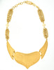 YSL Vintage White Cabochon Brushed Gold Plaque Multistrand Necklace - Amarcord Vintage Fashion  - 6
