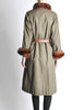 Yves Saint Laurent Vintage Green Mink and Sheared Beaver Coat - Amarcord Vintage Fashion  - 8