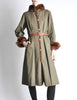 Yves Saint Laurent Vintage Green Mink and Sheared Beaver Coat - Amarcord Vintage Fashion  - 2