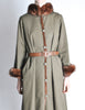 Yves Saint Laurent Vintage Green Mink and Sheared Beaver Coat - Amarcord Vintage Fashion  - 7
