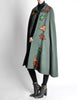 Saint Laurent Rive Gauche Vintage Green Falling Leaves Cape - Amarcord Vintage Fashion  - 4